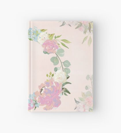 Pink Floral Wreath Hardcover Journal
