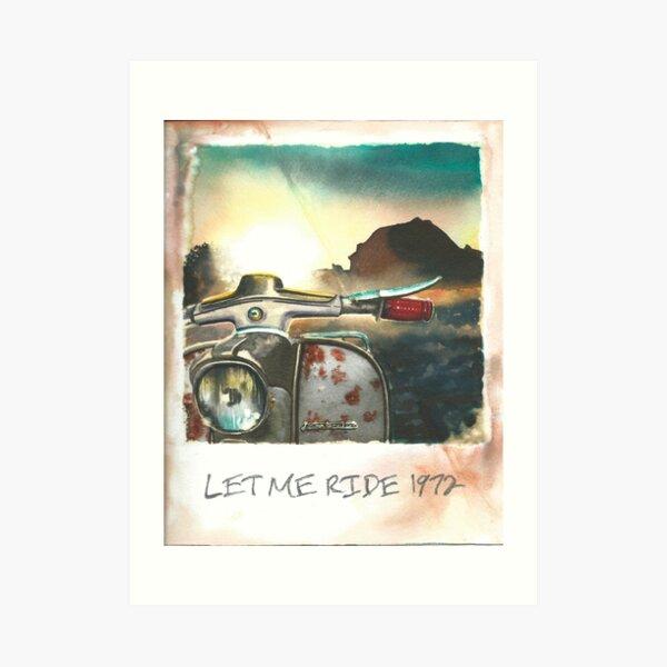 Let me ride vintage lambretta Art Print