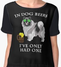 Keeshond Ive Only Had One In Dog Beers Year of the Dog Irish St Patrick Day Chiffon Top