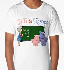 Hippos Nilpferde Lalli und Loops machen die Schule cooler Longshirt