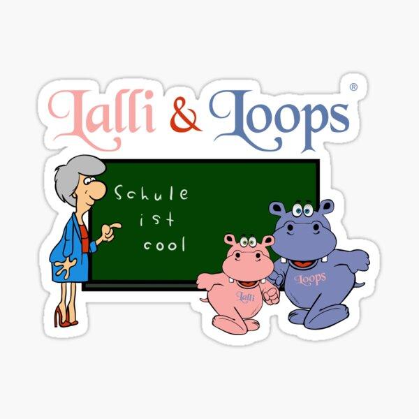 Hippos Nilpferde Lalli und Loops machen die Schule cooler Sticker
