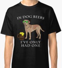 Camiseta clásica Labrador Retriever Ive Only One en cervezas para perros Año del perro Irish St Patrick Day
