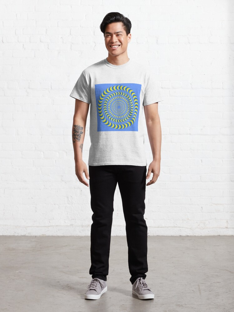Alternate view of Optical illusion, visual phenomena, structure, framework, pattern, composition, frame, texture Classic T-Shirt