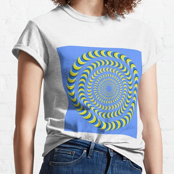 Optical illusion, visual phenomena, structure, framework, pattern, composition, frame, texture Classic T-Shirt
