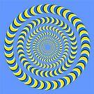 Optical illusion, visual phenomena, structure, framework, pattern, composition, frame, texture by znamenski
