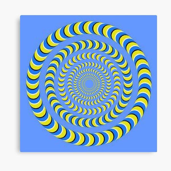 Optical illusion, visual phenomena, structure, framework, pattern, composition, frame, texture Canvas Print