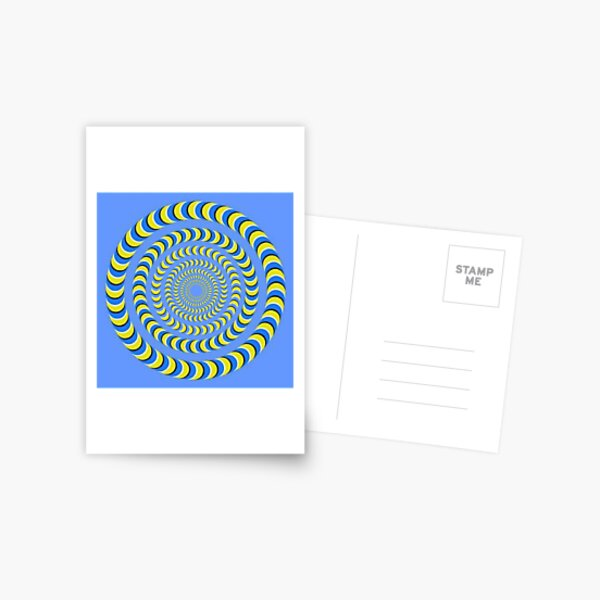 Optical illusion, visual phenomena, structure, framework, pattern, composition, frame, texture Postcard