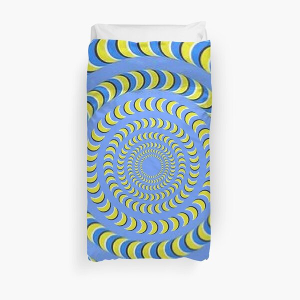 Optical illusion, visual phenomena, structure, framework, pattern, composition, frame, texture Duvet Cover