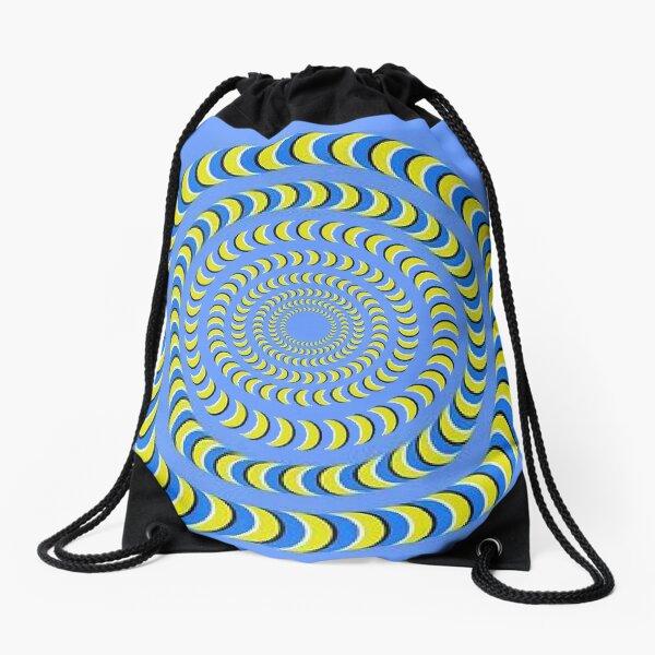 Optical illusion, visual phenomena, structure, framework, pattern, composition, frame, texture Drawstring Bag