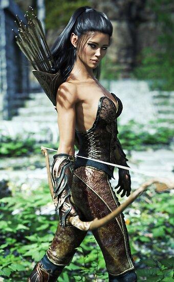 Fantasy female archer