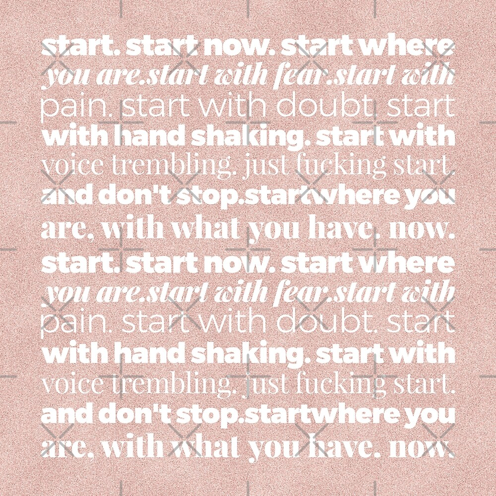How to Start Each Day Motivated Pink/White by Under-TheTable