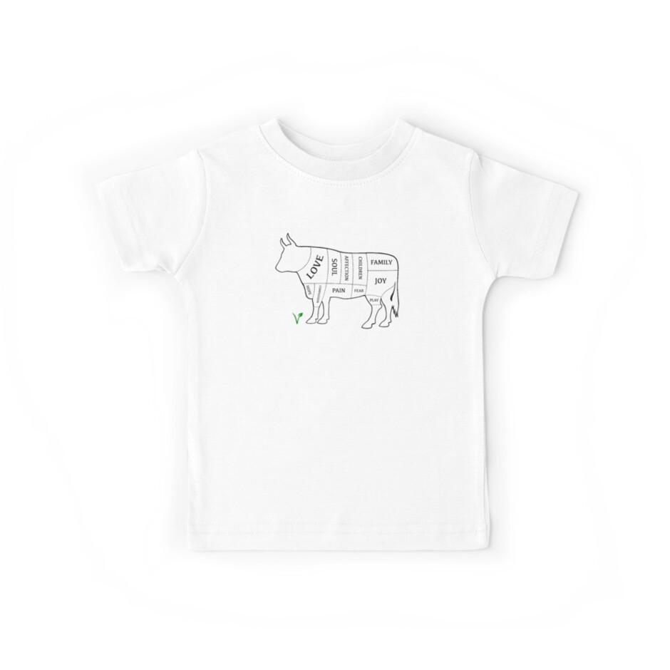 Vegan Cow - Black outline. by Buddyo