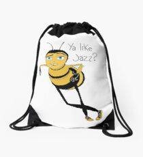 Bee movie ya like jazz Drawstring Bag