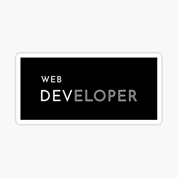 Web Developer Sticker