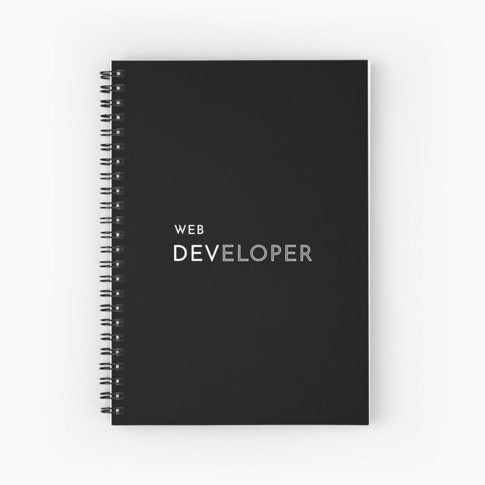 Web Developer Spiral Notebook