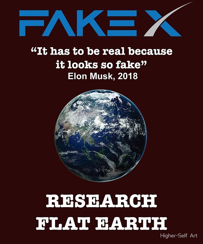 Fake Earth tshirt by Higher-Self  Art