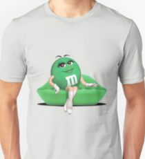 Green M&M Bambi  Slim Fit T-Shirt
