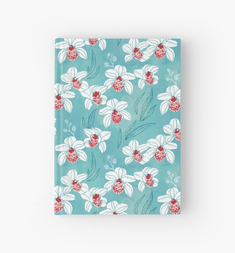 Orchid garden in white and turquoise green by adenaJ