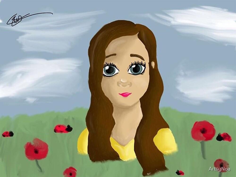 Girl In The Poppy Field by ArtsyNoa