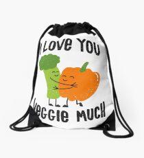 I Love You Veggie Much Drawstring Bag