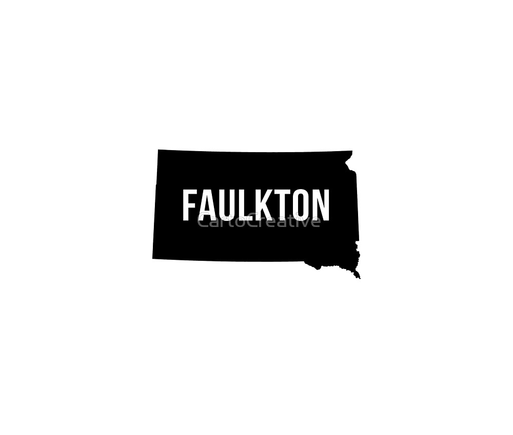 Faulkton, South Dakota Silhouette by CartoCreative