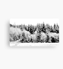 Snow on Anoch Mor Canvas Print