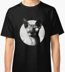 Black Metal Sphynx Cat Goth Death Metal T Shirt Hell Rock Classic T-Shirt