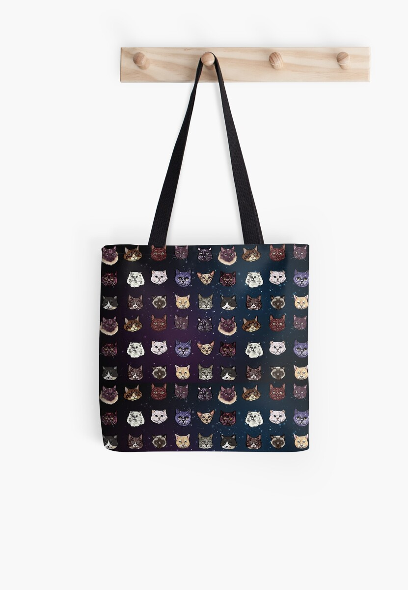 Cat Breeds in Space Pattern by Rub7