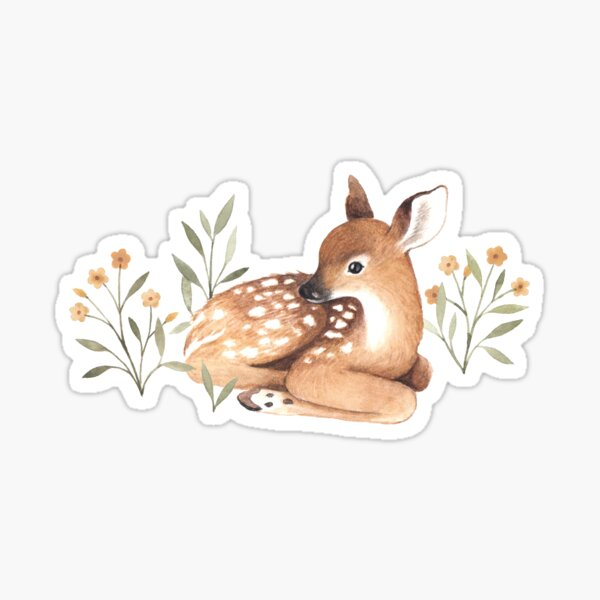 Meadow and Fawn Sticker