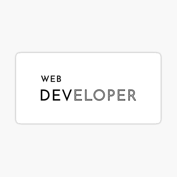 Web Developer (Inverted) Sticker