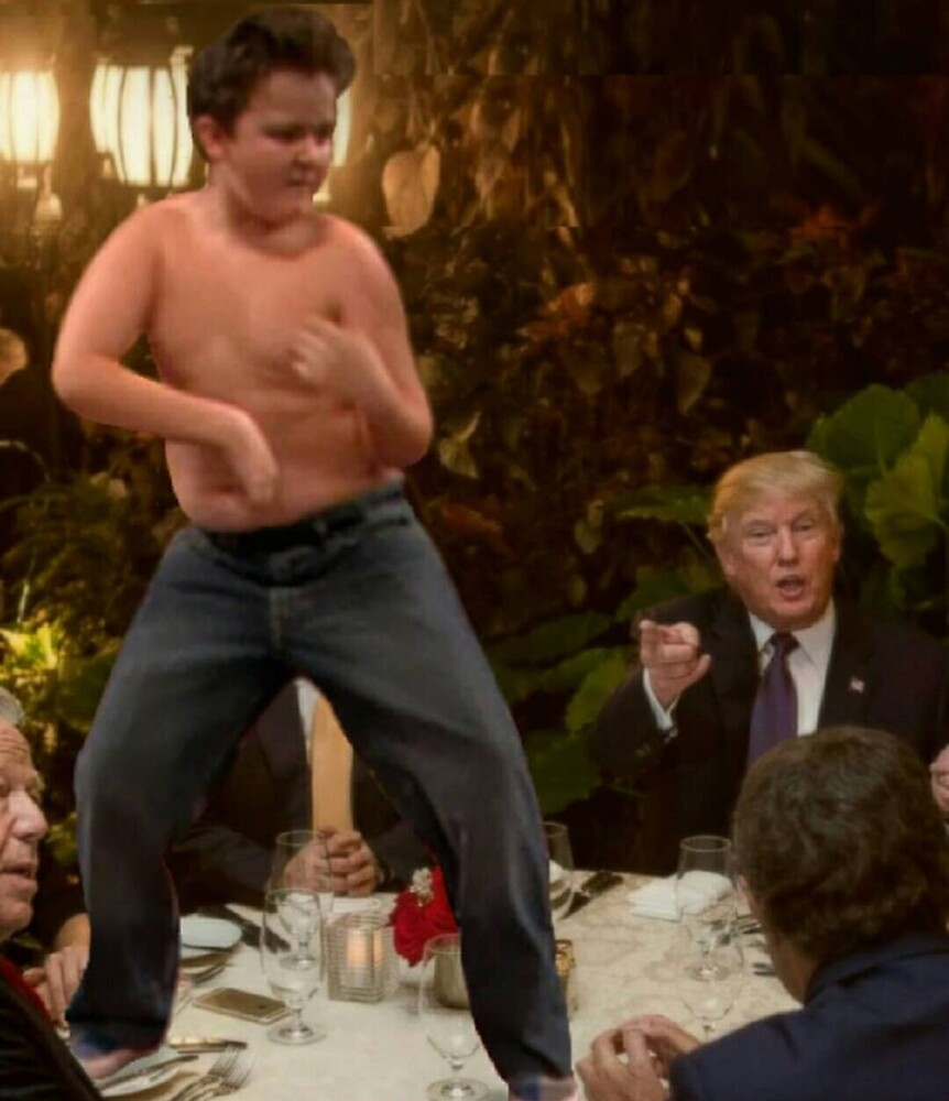Gibby At Trump's Dinner Meme by RedMemes