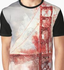 Watercolor Golden Gate Graphic T-Shirt