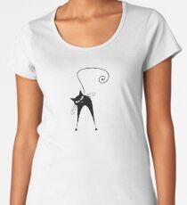 Black cat silhouette Women's Premium T-Shirt