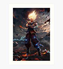 Son Goku Super Saiyan Art Print