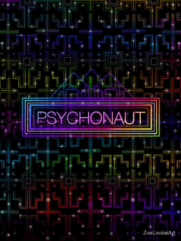 Psychonaut colourful shipibo pattern by ZoeLouiseArt