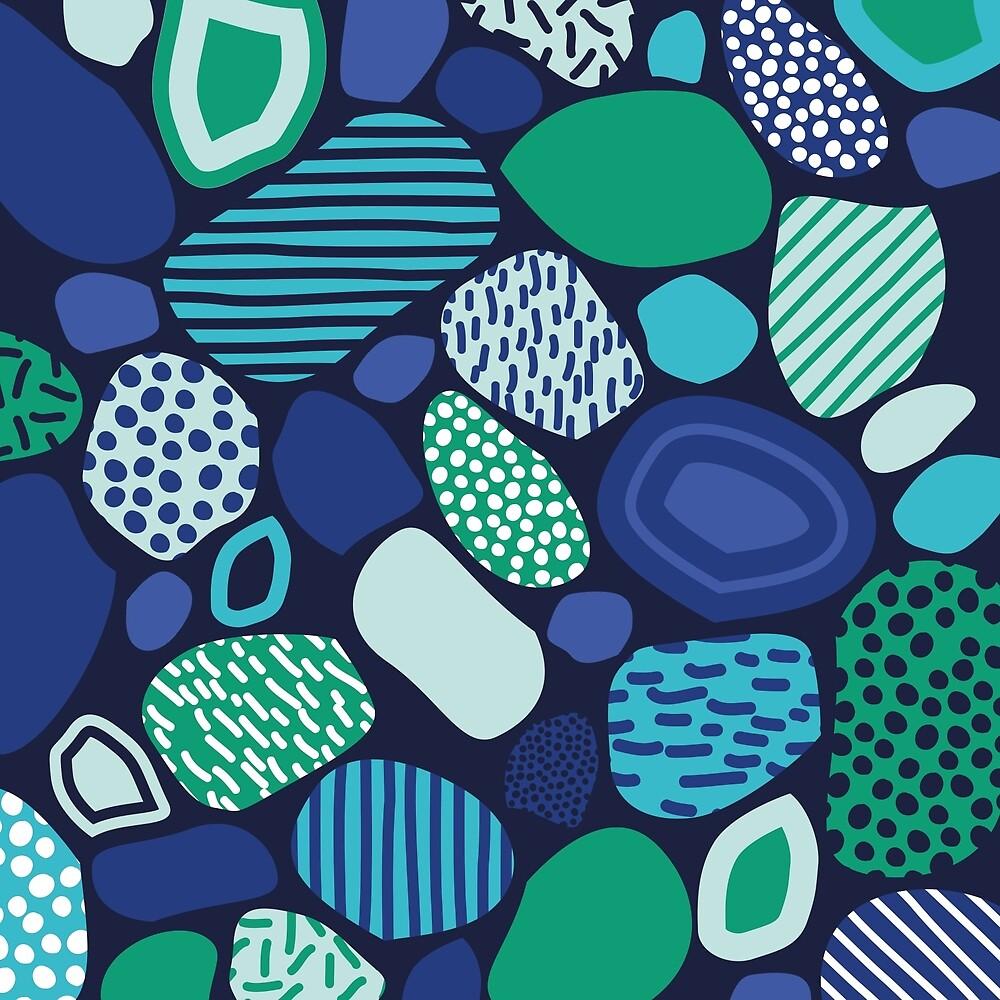Confused Mosaic in Navy by Designbyjasmine