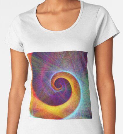 Fibonacci spiral, linify Premium Scoop T-Shirt