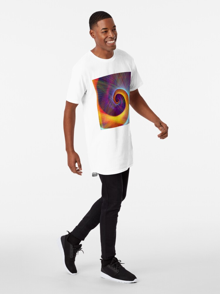 Alternate view of Fibonacci spiral, linify Long T-Shirt