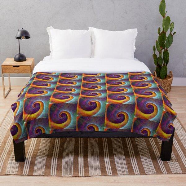 Fibonacci spiral, linify Throw Blanket