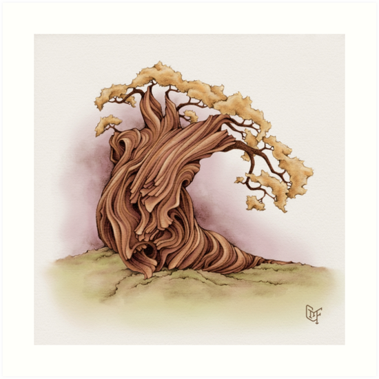 Wise Tree - soft warm tones by TheJoyfulYeti