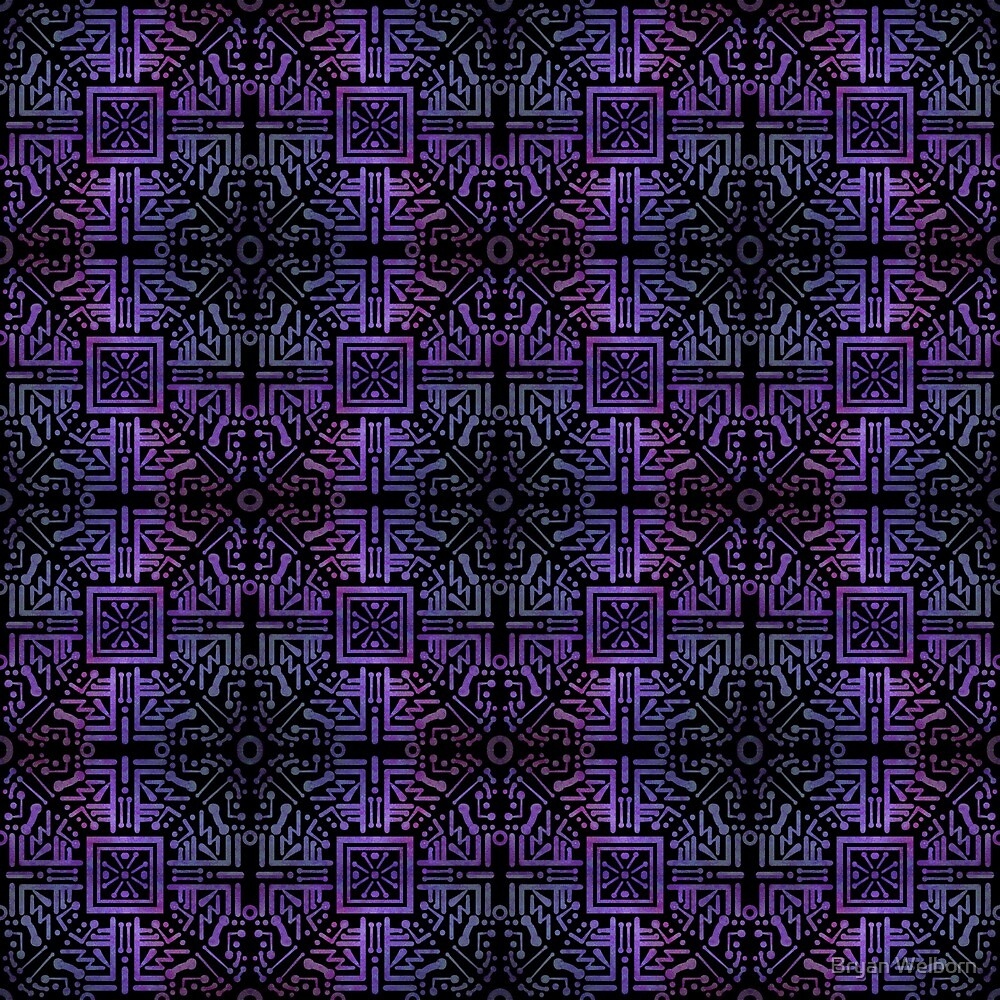 Zapped in Purples and Black by Bryan Welborn