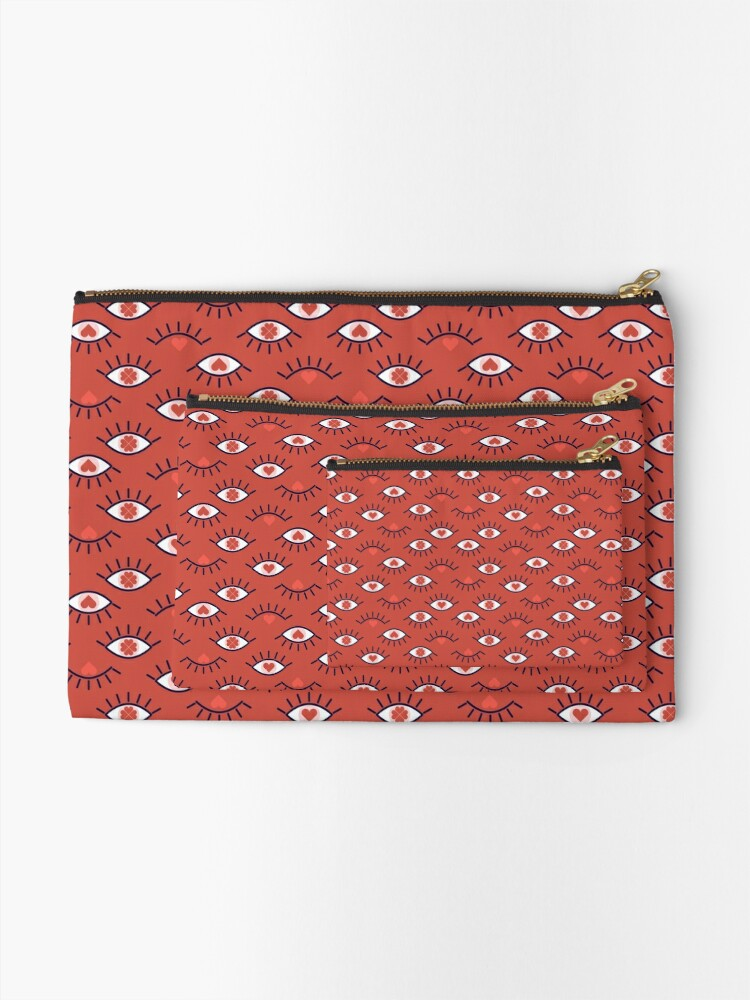 Alternate view of Eyes of Love Zipper Pouch
