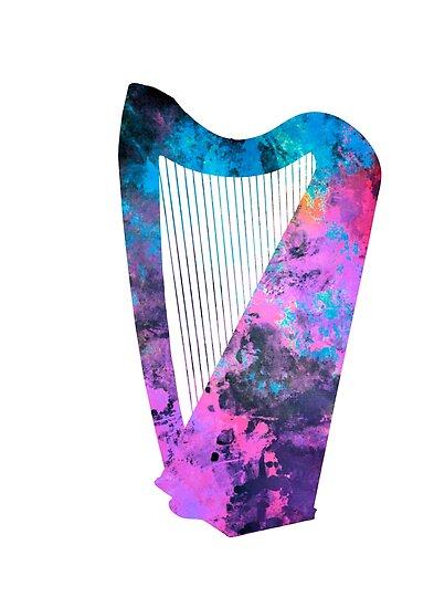 Harp art #harp by Lionmixart