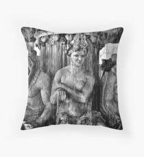 Vegas Ladies b/w Throw Pillow