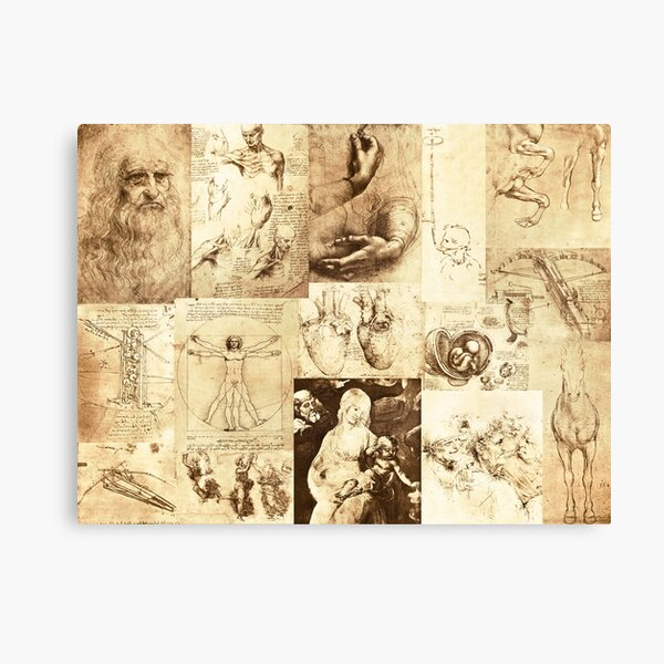 The inventive mind of Leonardo Da Vinci Canvas Print