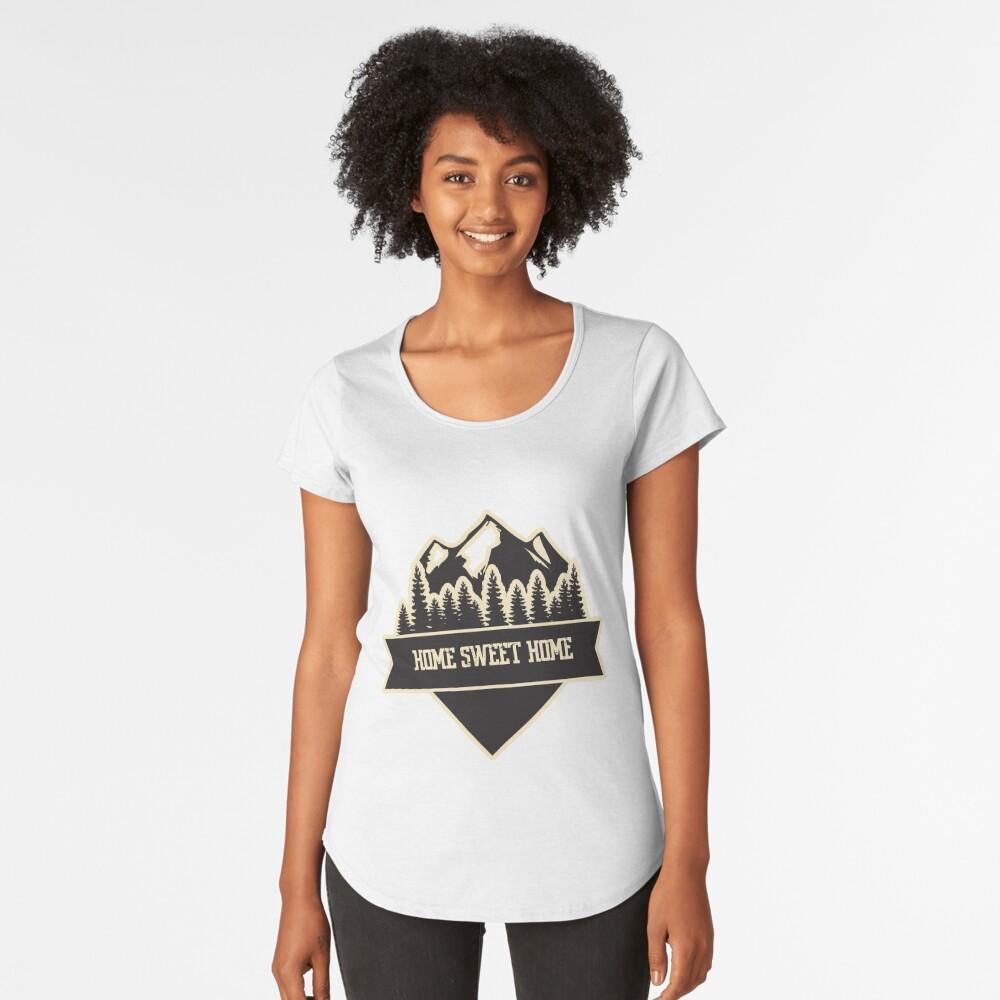 Home sweet home white Women's Premium T-Shirt Front