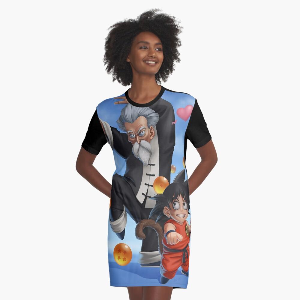 Goku Kame Sennin Graphic T-Shirt Dress Front