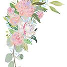 Pink Floral Border by DesignsByDebQ