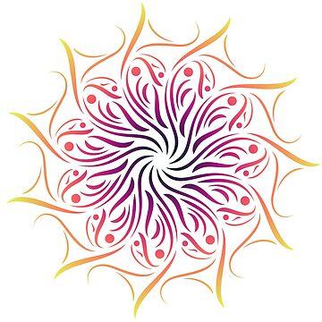 Colorful Mandala by DigitalShards