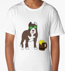 Pitbull Ive Only Had One In Dog Beers Year of the Dog Irish St Patrick Day Long T-Shirt